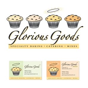 Logo concept for Glorious Goods, a Seattle, USA speciality baking company | Concept & design | Freelance client