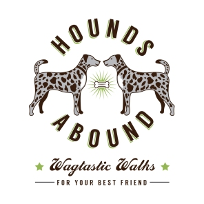 Logo concept for Hounds Abound, a Cotswolds-based dog walking service | Concept, naming & design | Freelance client